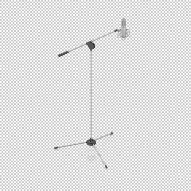 Isometric microphone Premium Psd