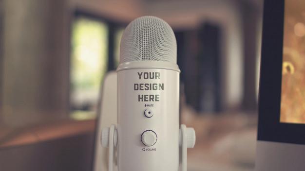 Microphone mockup Premium Psd
