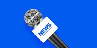 News anchor microphone mockup