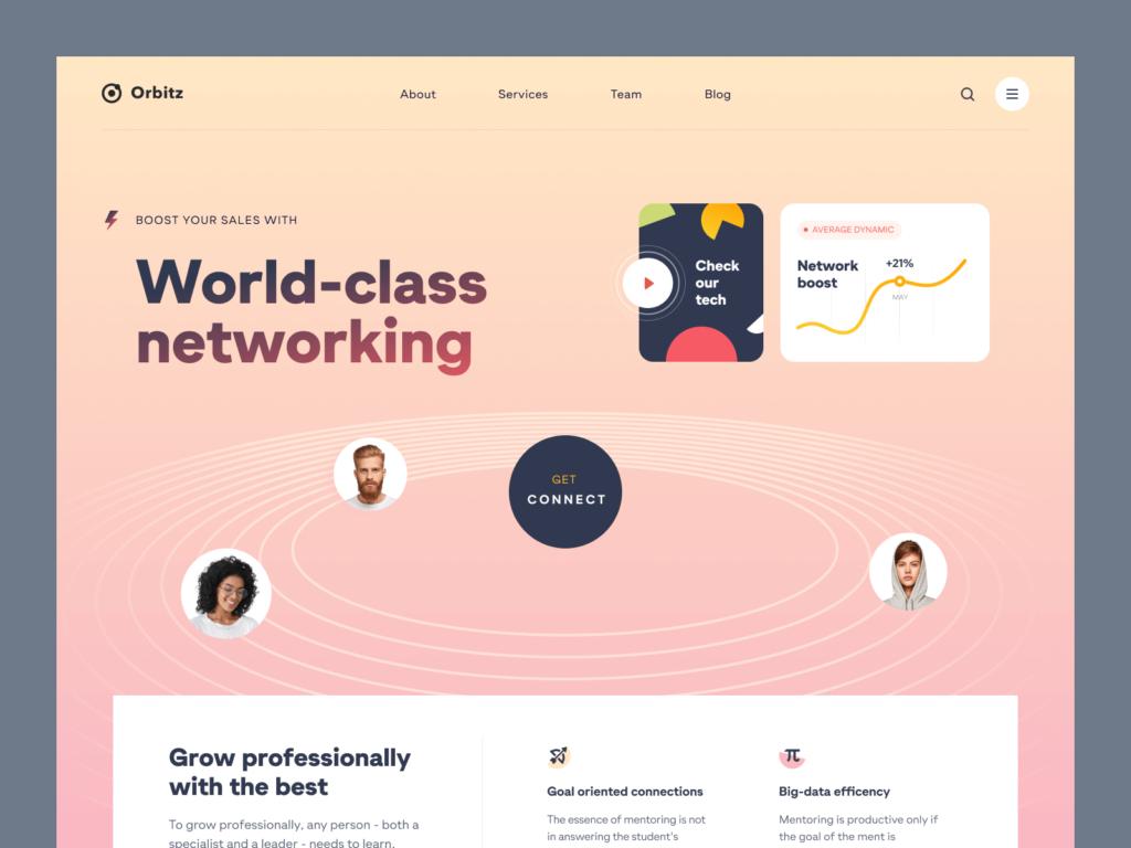 Orbitz Development Website Ui Ux Template