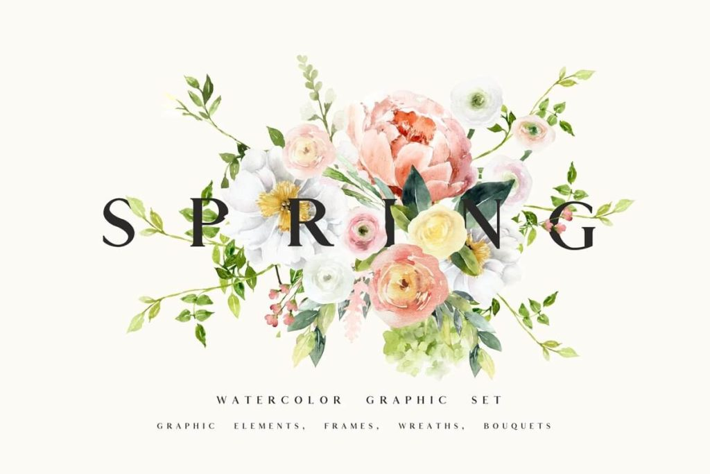 SPRING collection - watercolor set
