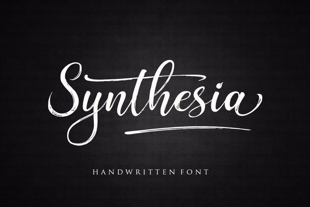 Synthesia Brush Script