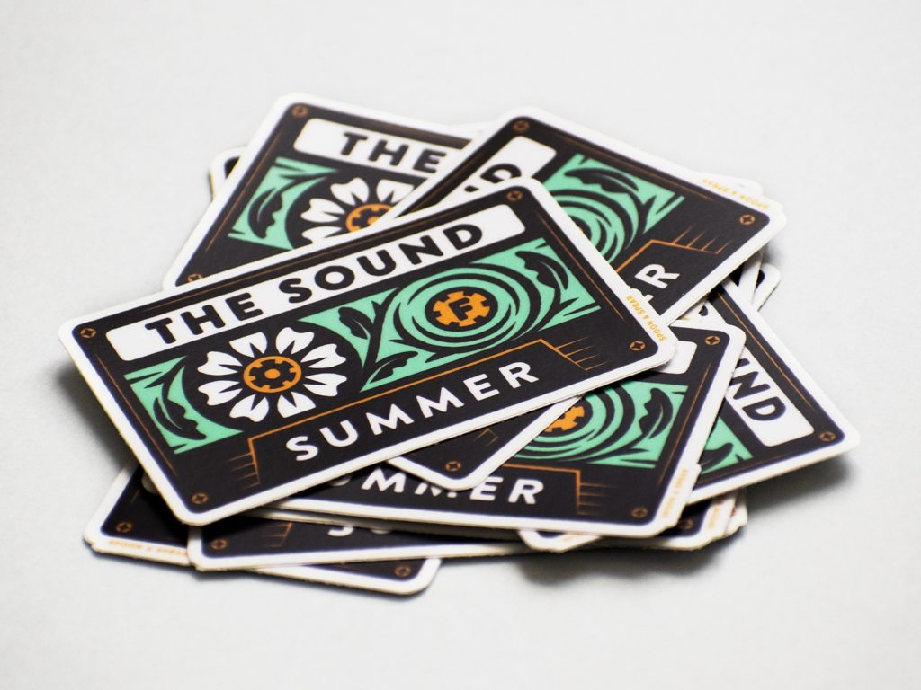 The Sound of Vintage Summer Sticker
