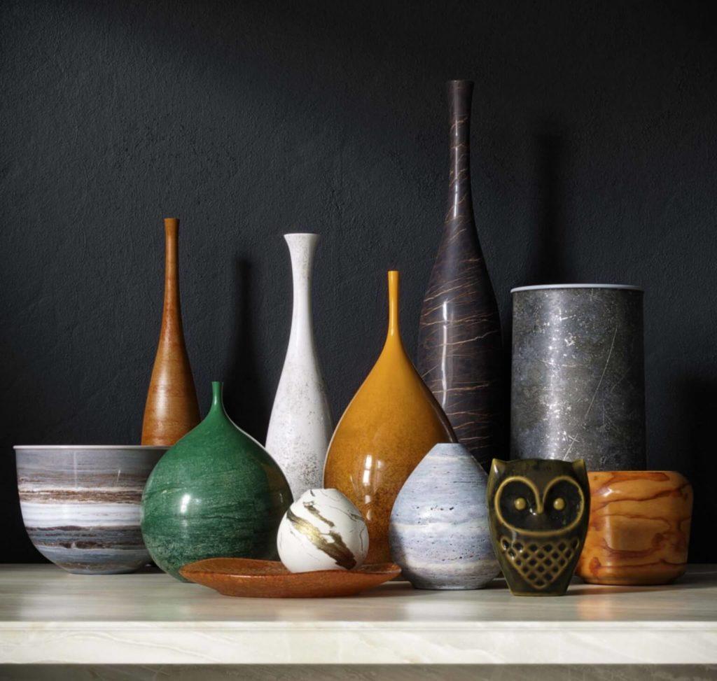 Attractive Vase Set Pro 3D Models