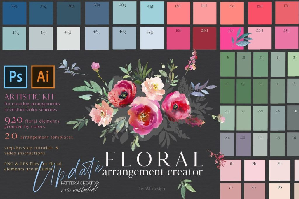 Watercolor Floral Bouquet Creator
