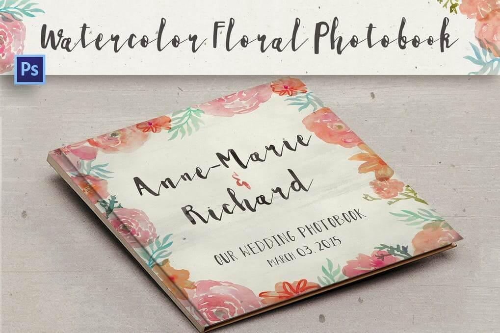 Watercolor Floral Photobook