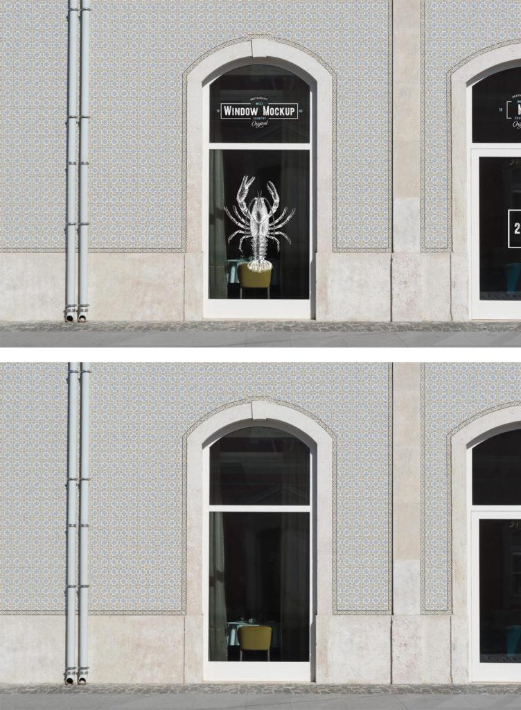 Free Window Mockup Template