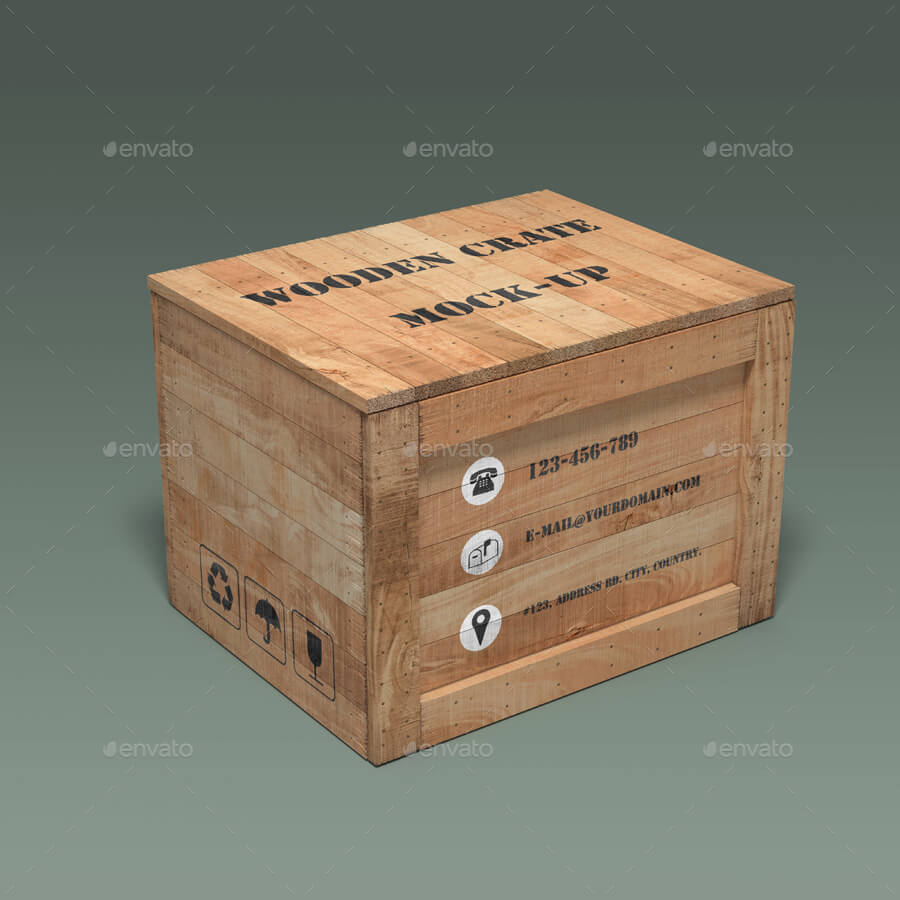 Wooden Crate Mock-up