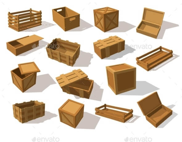 Wooden Packs or Wood Boxes for Packaging