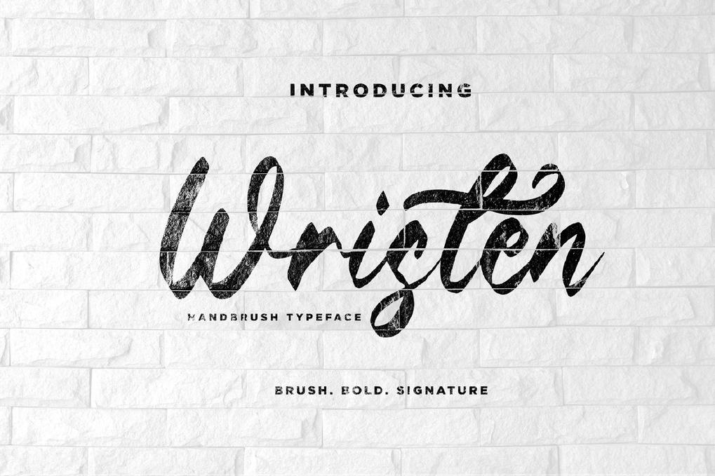 Wristen FH - Brush Script Font