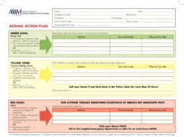 Asthma Action Plan Template In PDF