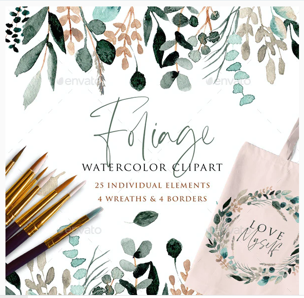 Foliage Watercolor Clipart
