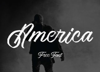 America Script Font