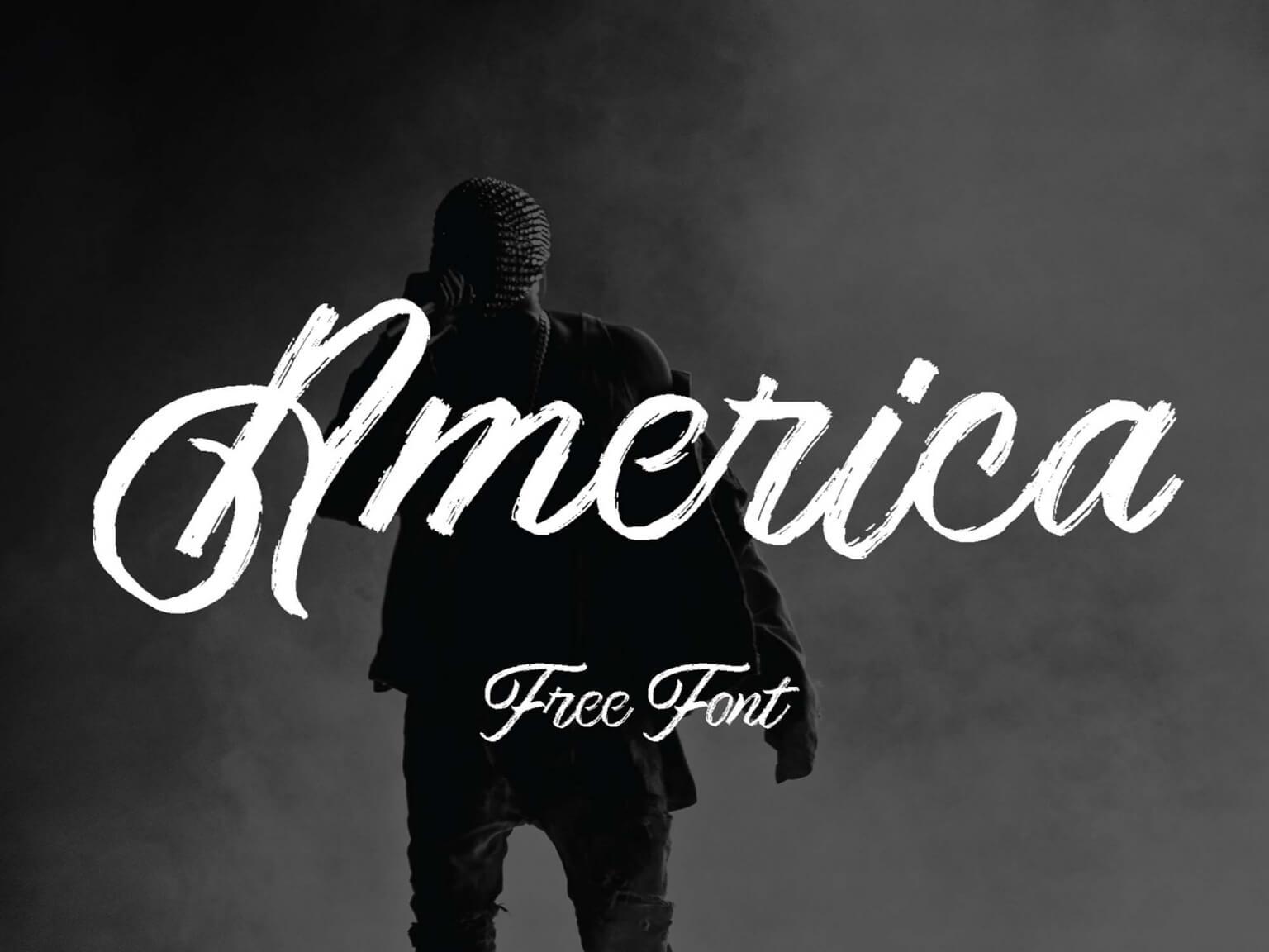 Free Artistic America Script Font