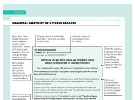 Anatomy of a Press Release Template