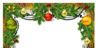 Christmas Border Template in DOC