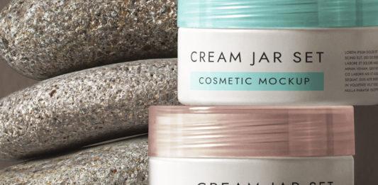 Cosmetic Psd Cream Pot Mockup Set