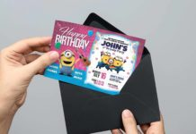 Free Birthday Invitation Card Template (PSD)