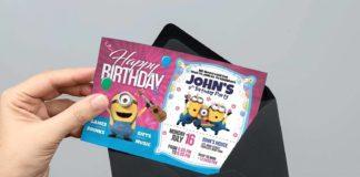 Free Birthday Invitation Card Template (PSD)