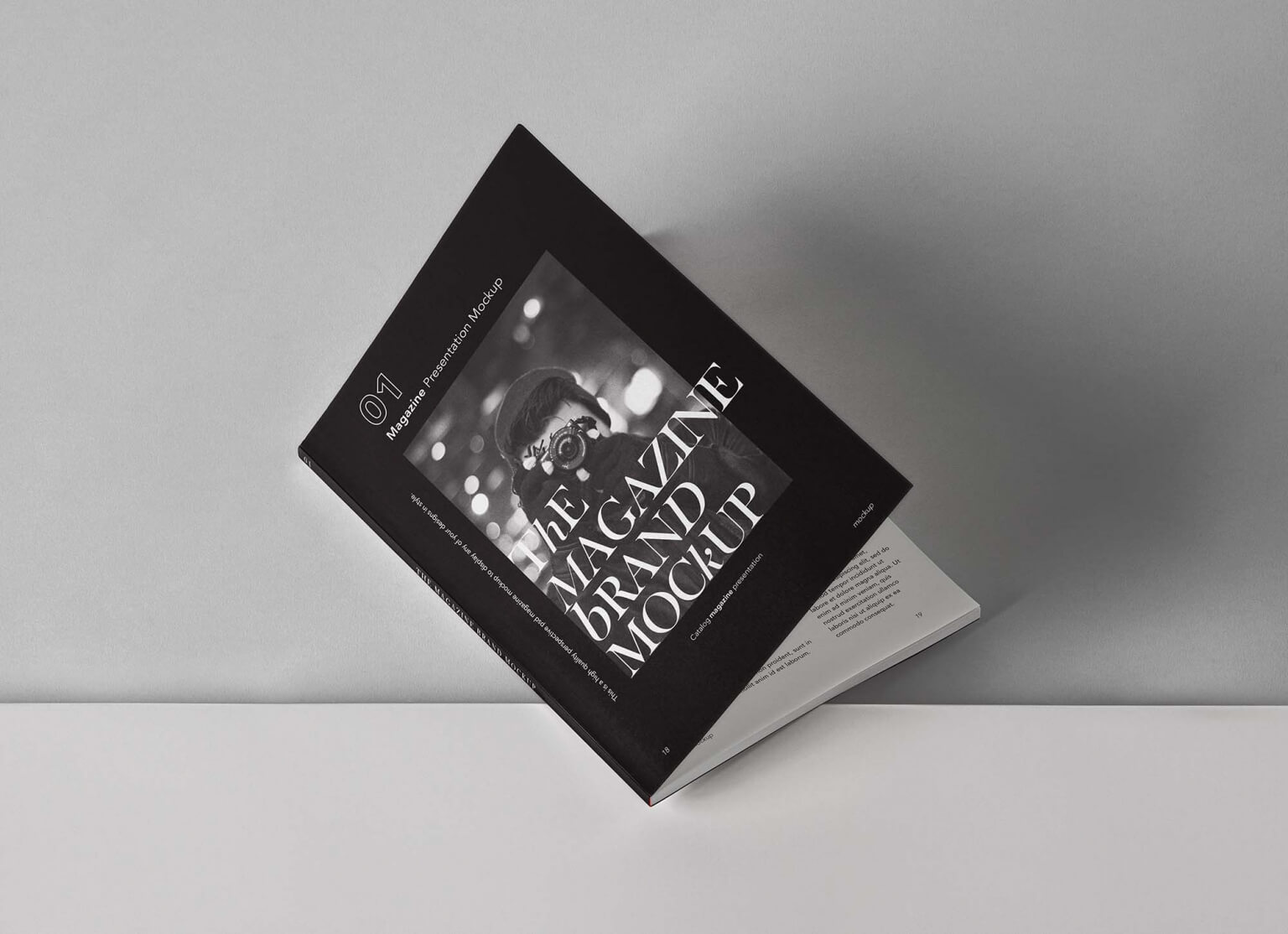 Free Catalog Magazine Mockup (PSD)