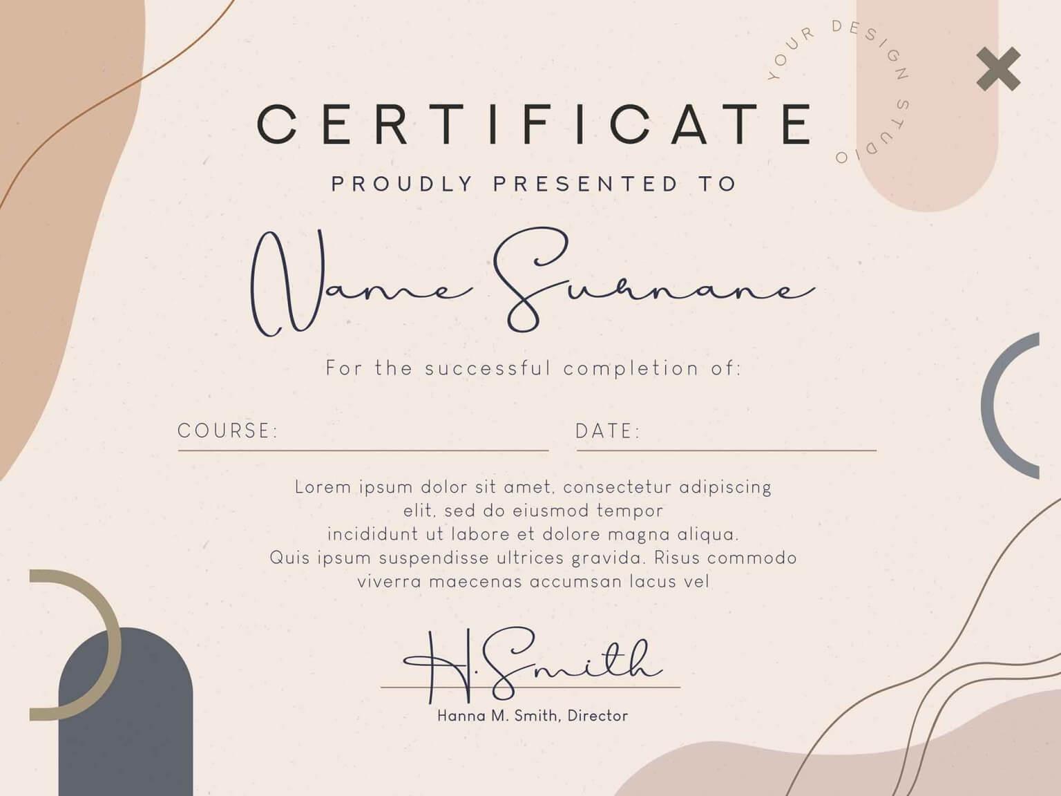 Free Certificate Diploma Template (PSD)