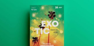 Free Exotic Summer Flyer Template (PSD)