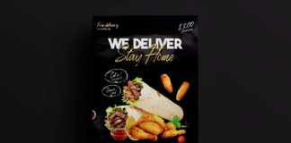 Free Home Delivery Food Flyer Template (PSD)