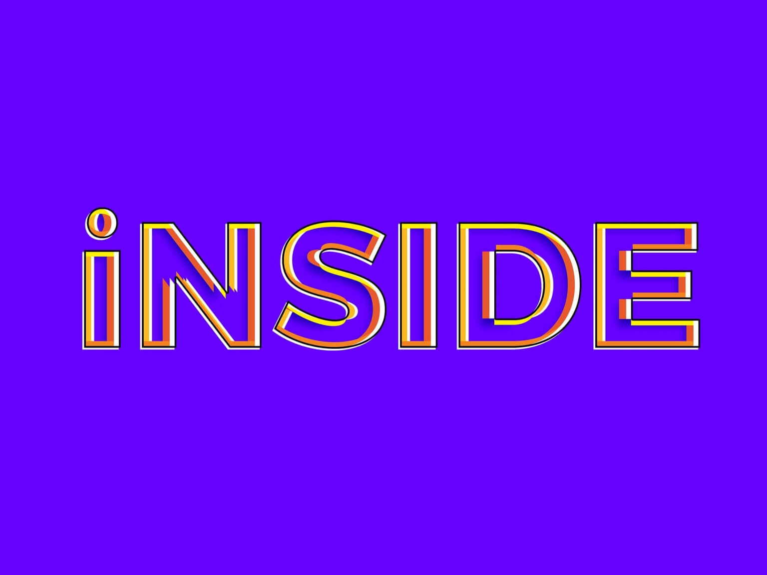 Free Inside Photoshop Text Effect (PSD)