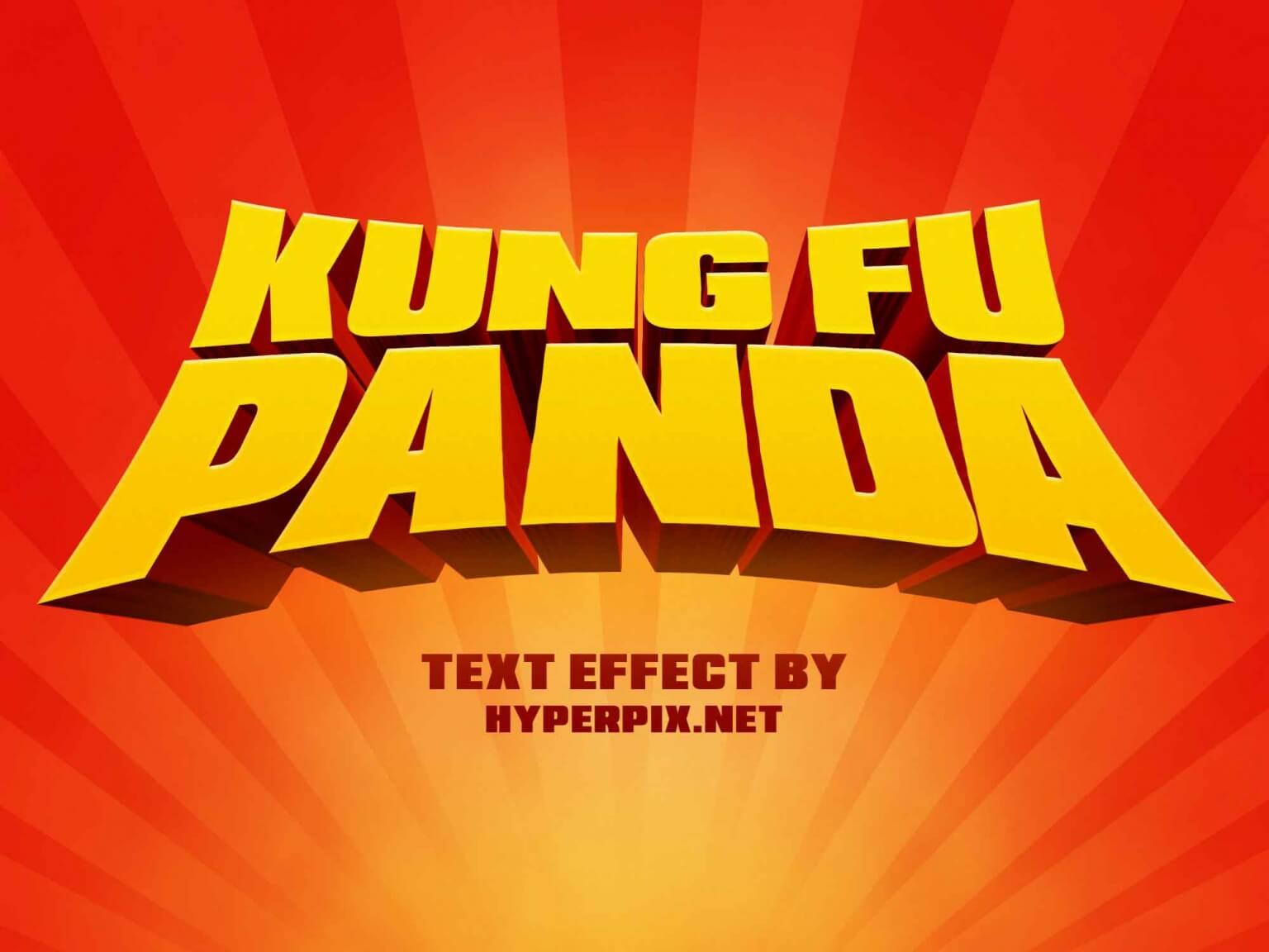 Free Kung Fu Panda Text Effect (PSD)