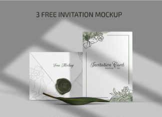 Invitation – 3 Free PSD Mockups