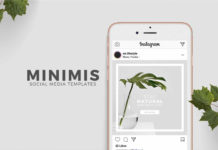 Minimis Instagram Social Media Templates (PSD)