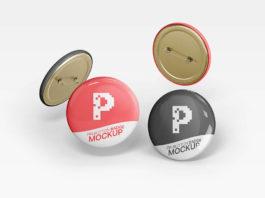 Pin Button Badge Mockups