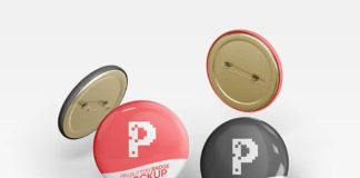 Pin Button Badge Mockups