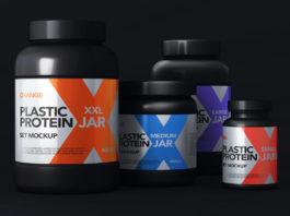 Protein Psd Jar Packaging Mockup