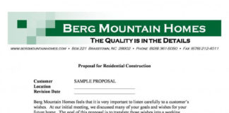 Residential Construction Proposal Template in PDF