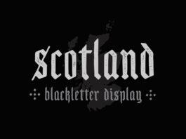 Scotland Blackletter Display Font