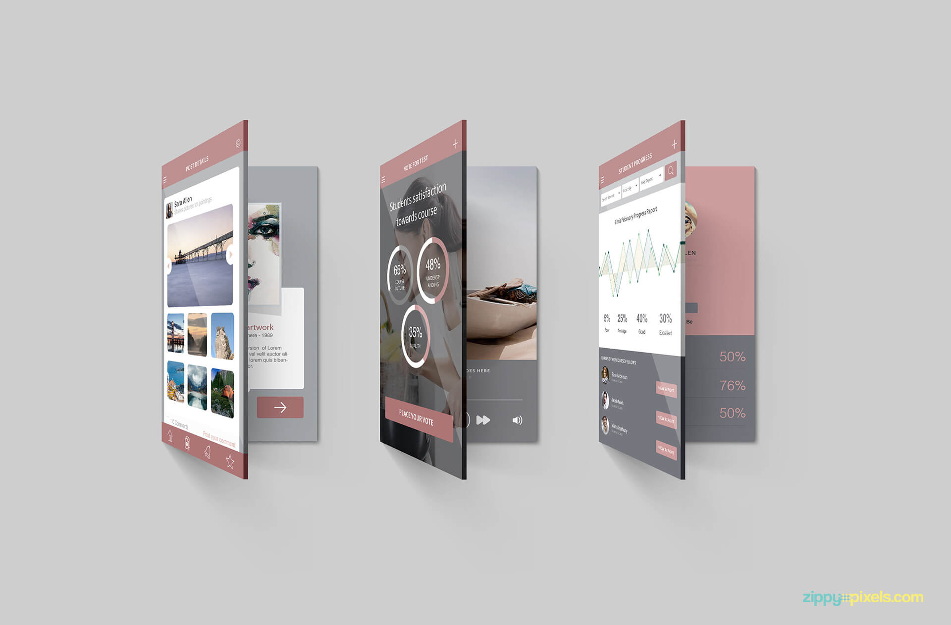 Free 2 Multi Screen Mockups For iPhone PSD