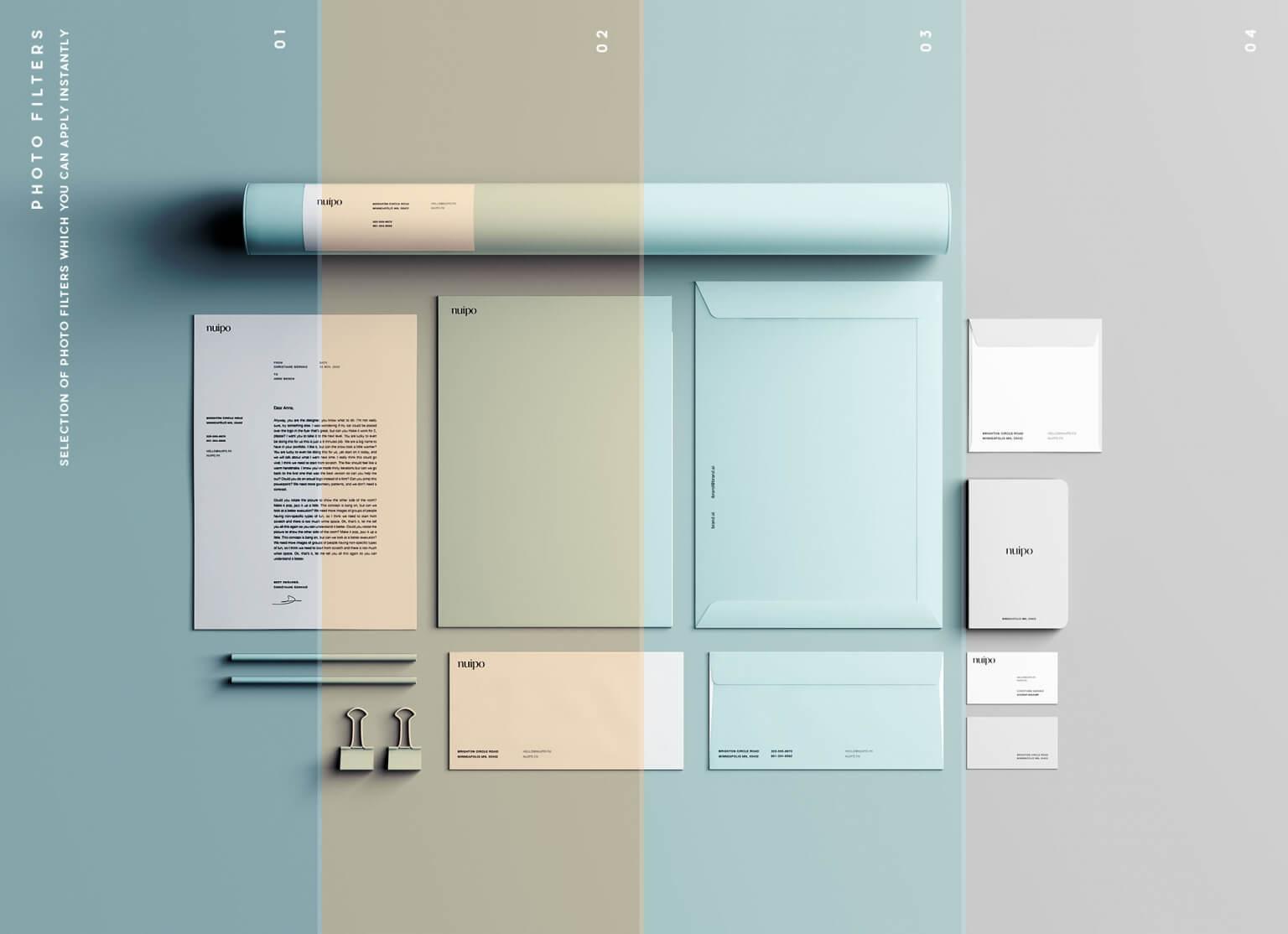 Free Classic Branding Presentation Mockup PSD Template