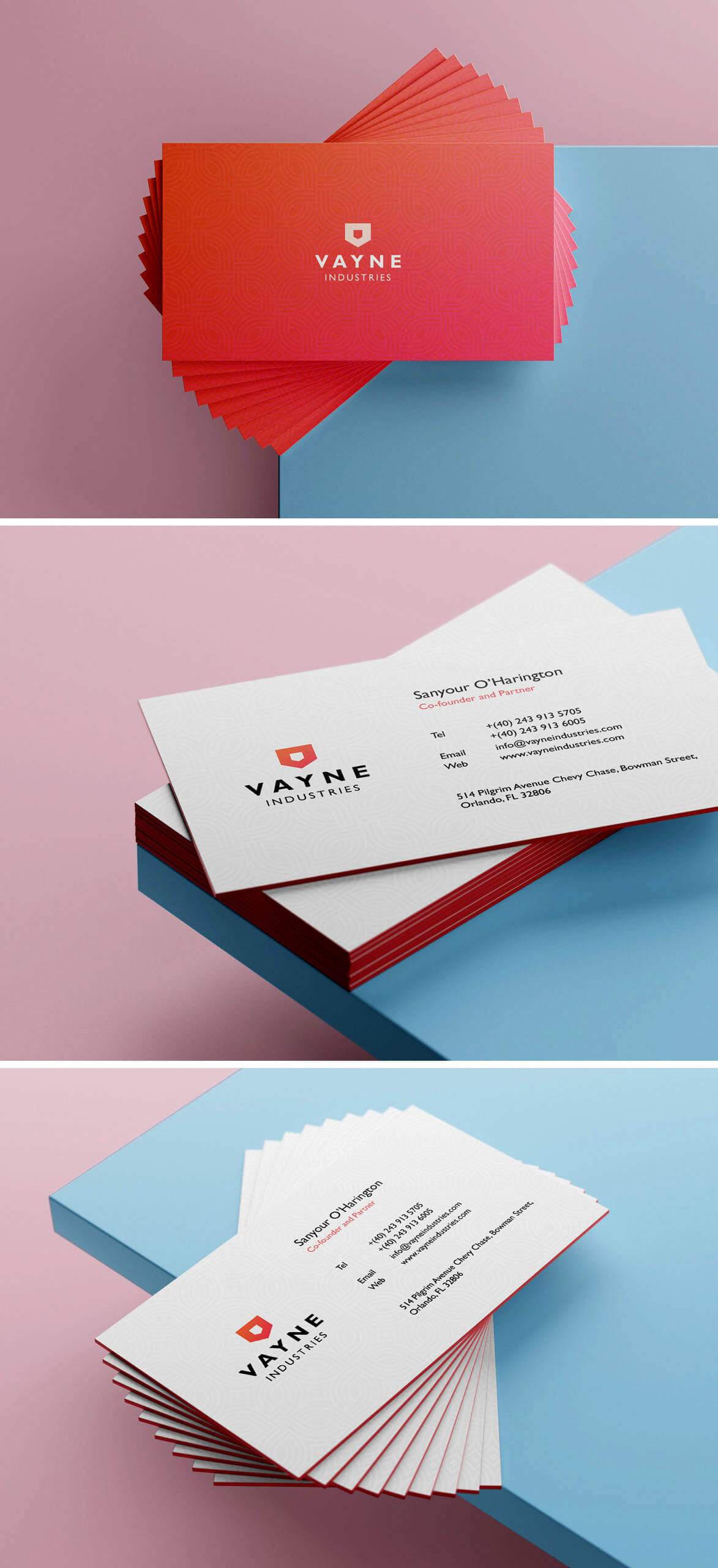 Free Amazing Stack of Business Card PSD Template