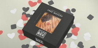 Cake Packaging Box Mockup