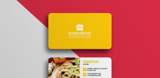 Delicious Food Business Card Template
