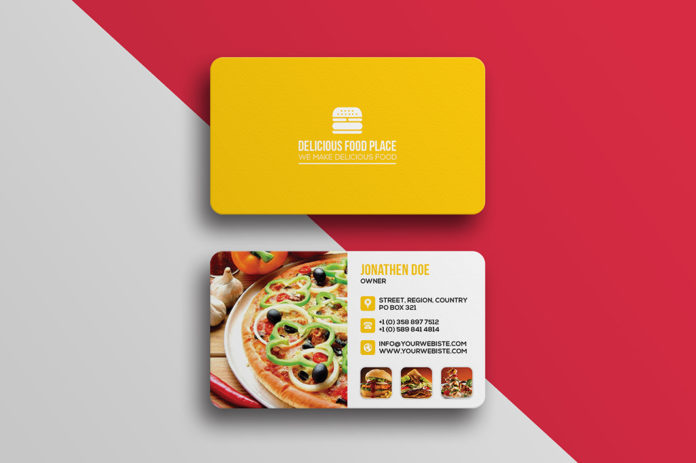 Free Delicious Food Business Card PSD Template