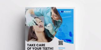 Free Dental Service Flyer Template (PSD)