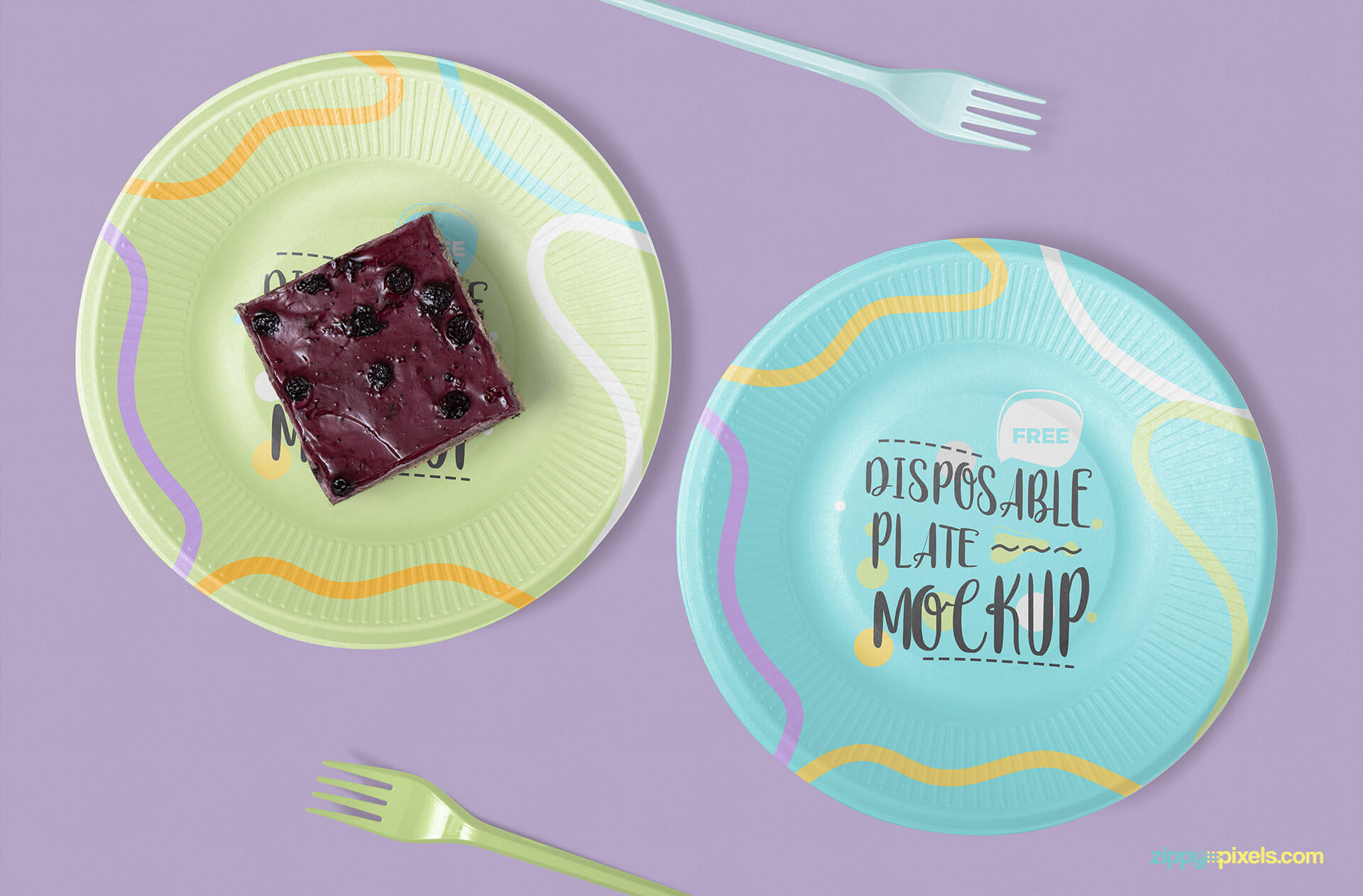 Free Disposable Plate Mockup PSD Template