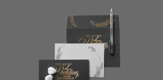 Free Elegant Wedding Invitation Mockup