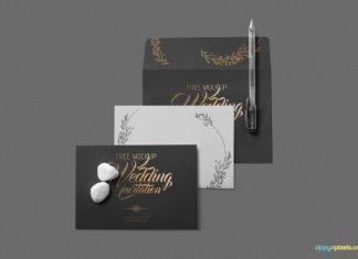 Free Elegant Wedding Invitation Mockup