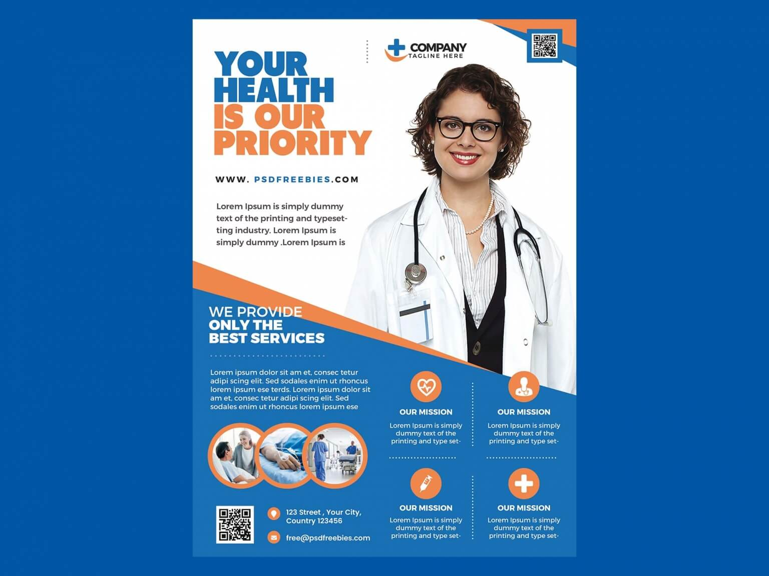 Free Health Care Flyer Template (PSD)