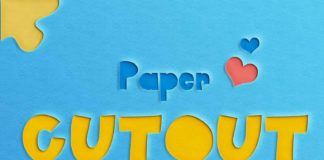 Free Paper Cut-Out Text Effect (PSD)