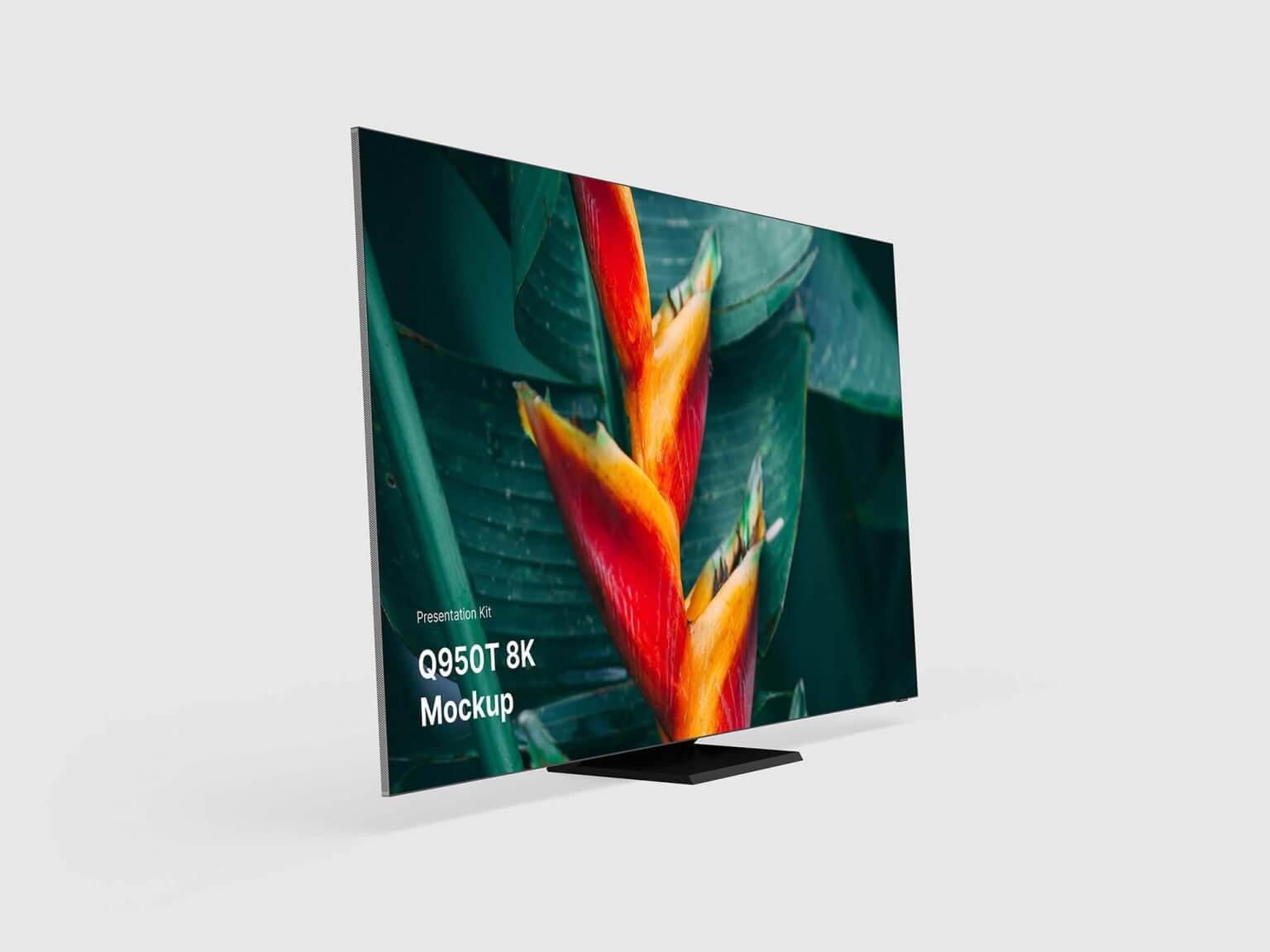 Free Perspective TV Mockup (PSD)