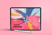 Free Stylish iPad Mockup (PSD)